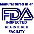 Manufactered in FDA inspected, registered facility